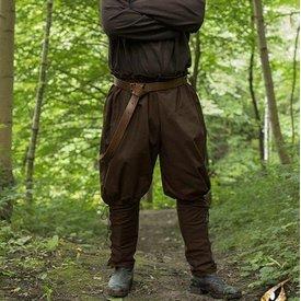 Epic Armoury Viking Spodnie Rollo, brązowy