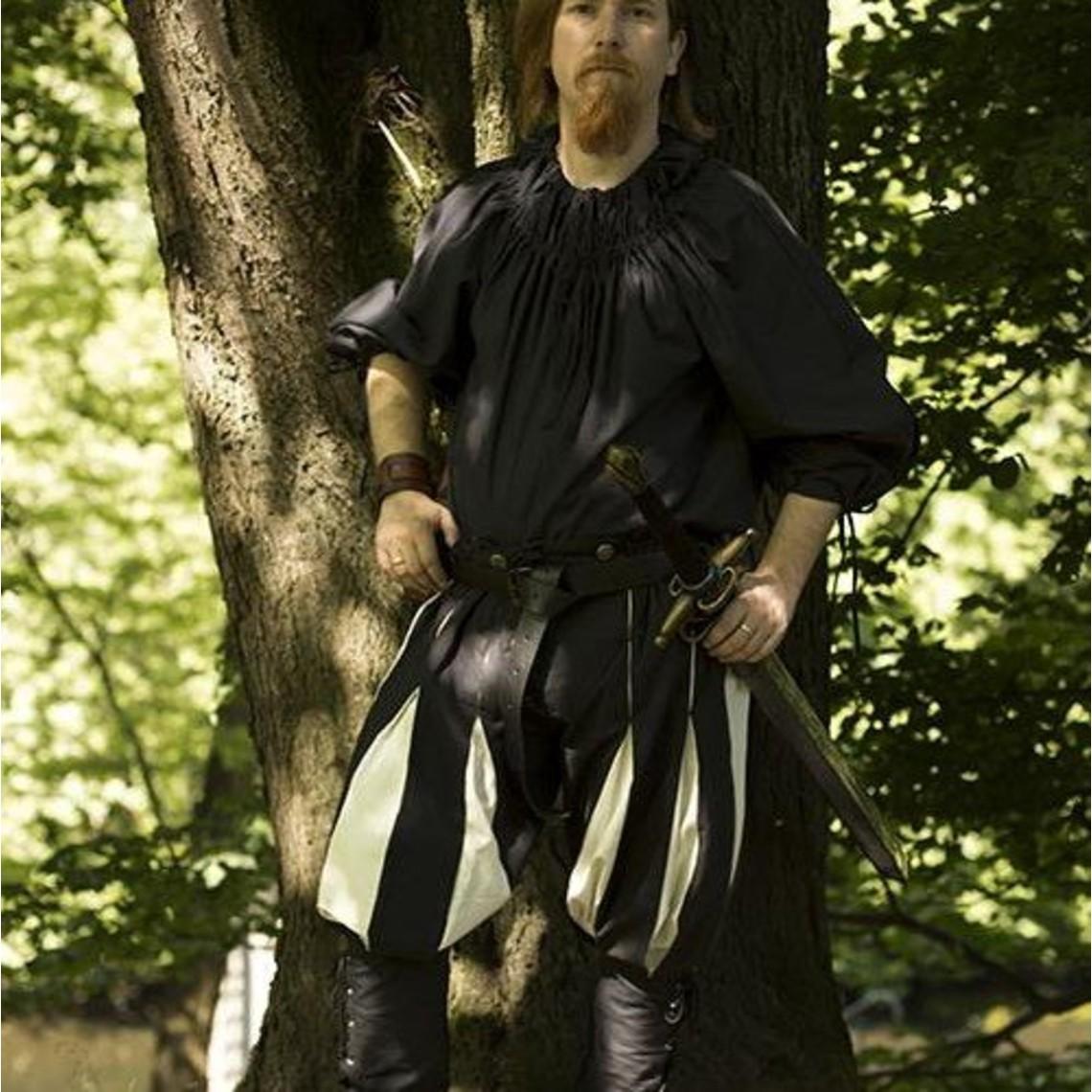 Epic Armoury Landsknechtenbroek zwart-wit