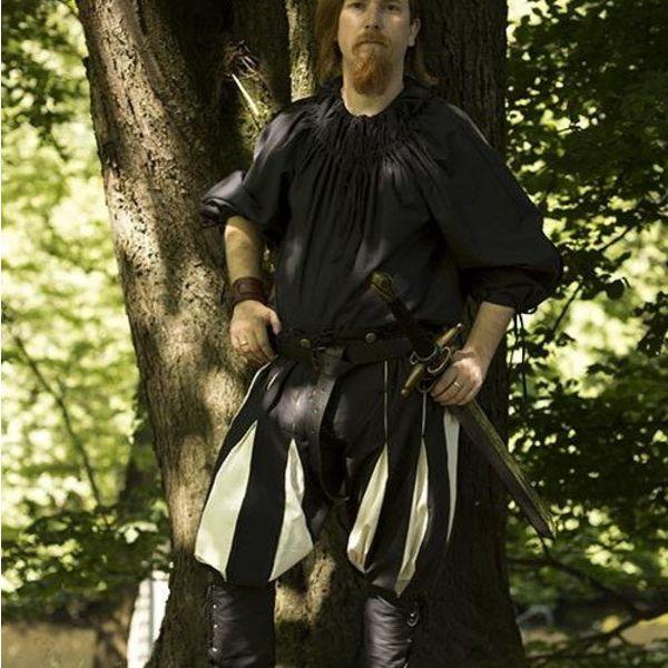 Epic Armoury Landsknecht byxor svart-vit
