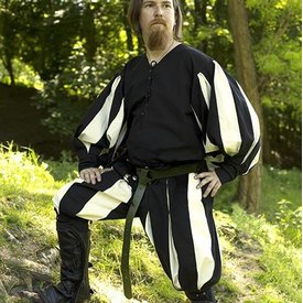 Epic Armoury Pantalon Landsknecht noir-blanc
