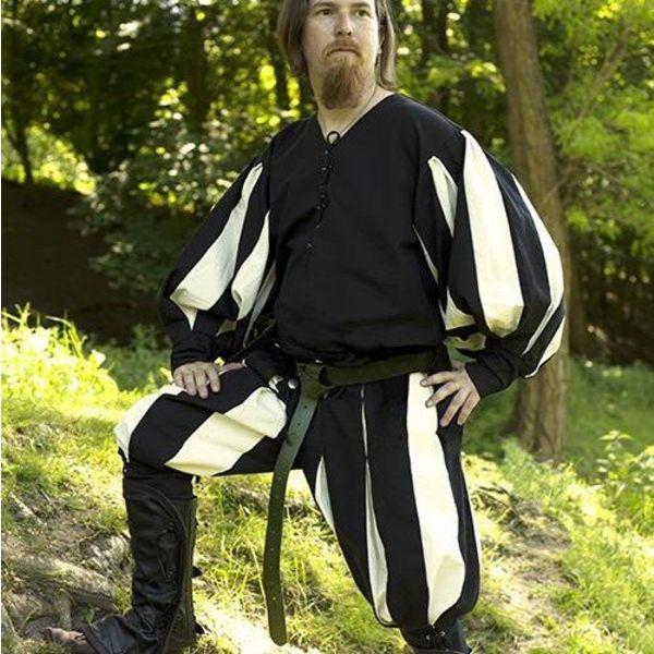 Epic Armoury calças Landsknecht preto-branco