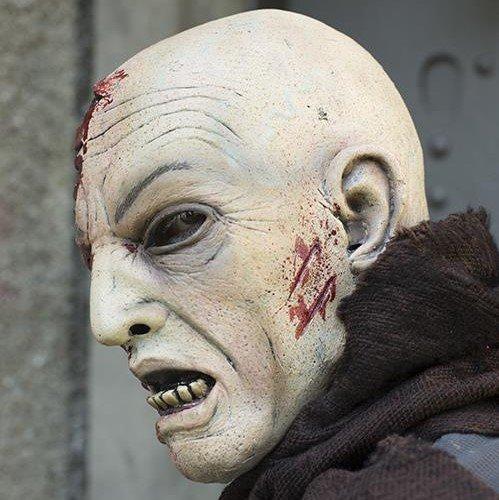 Zombiemasker met bloed