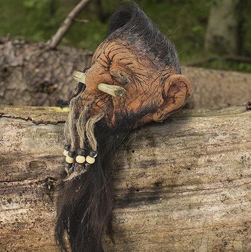 Gekrompen hoofd van een dwerg, een LARP trofee