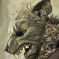 Epic Armoury LARP máscara roedor, marrón