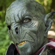 Epic Armoury Wild Orc Mask Dark Green, LARP Mask