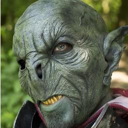 Dziki Orc Maska ciemnozielone, LARP Mask