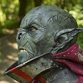 Epic Armoury Donkergroen Wild Orc Masker, LARP