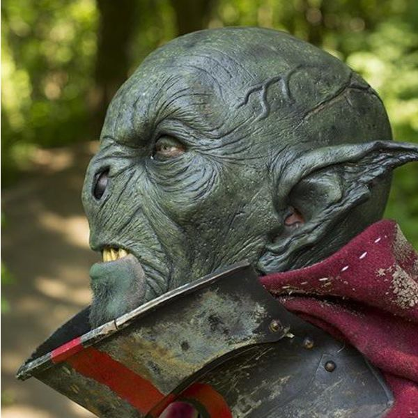 Epic Armoury Wild Orc Mask Dark Green, LARP Mask