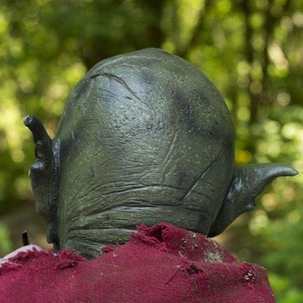Epic Armoury Wild Orc Mask mörkgrön, LARP Mask