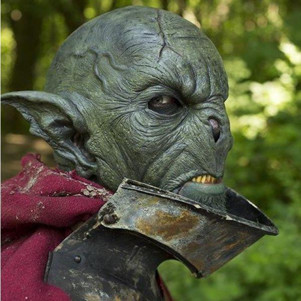 Epic Armoury Dziki Orc Maska ciemnozielone, LARP Mask