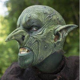 Epic Armoury Máscara de Aardman, verde, LARP máscara