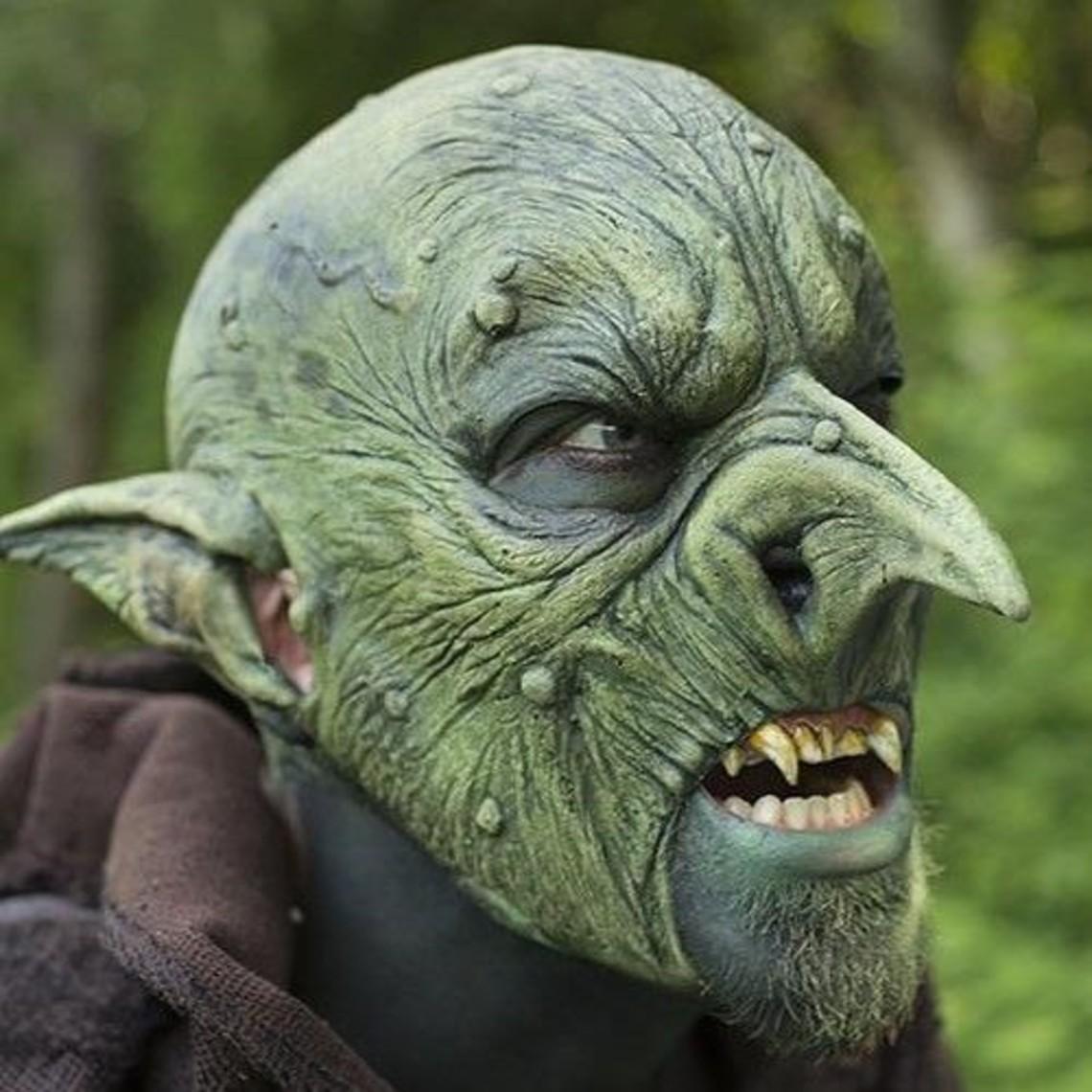 Epic Armoury Goblin-Maske Grün, LARP Mask