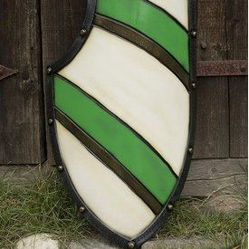 Epic Armoury Knight Shield, groen/wit, LARP schild