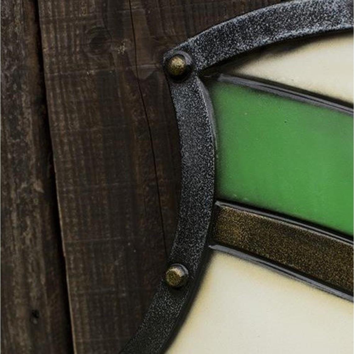 Epic Armoury Knight Shield, groen/wit, LARP schild