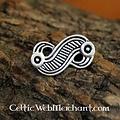 Frankische adelaarsfibula, zilverkleurig