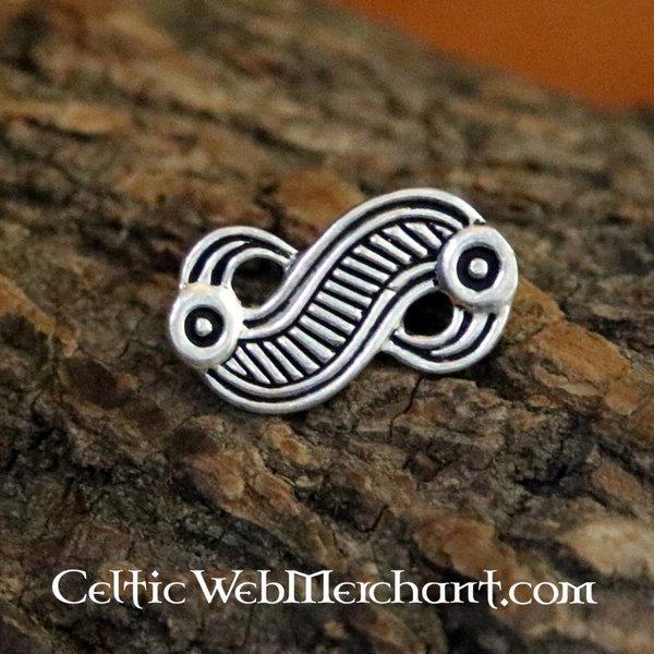 Frankiske ørn fibula, sølv farve