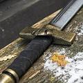 Epic Armoury Oorlogsmes, espada corta LARP