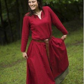 Epic Armoury Grundlæggende kjole, mørk rød / brun