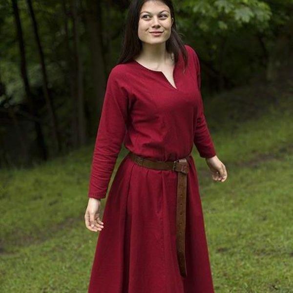 Epic Armoury Podstawowe sukienka, ciemny czerwony / brązowy
