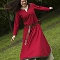 Epic Armoury Basis jurk, donkerrood/bruin
