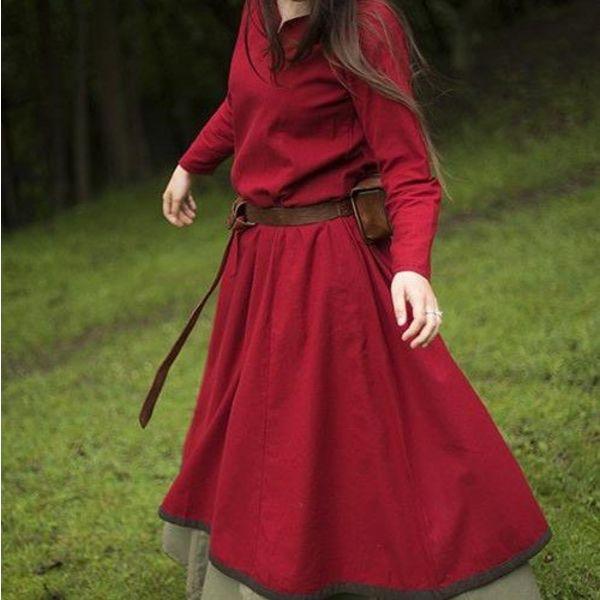 Epic Armoury Basic Dress, dark red/brown