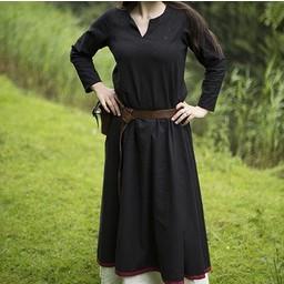 Grundläggande klänning, svart / mörkröd