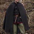 Epic Armoury Mantellina di lana con il cappuccio, 100% lana, grigio