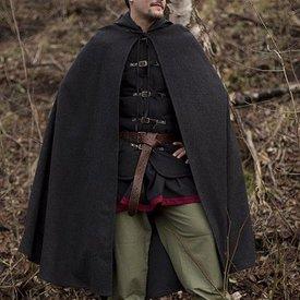 Epic Armoury Capa de lana con capucha, 100% de lana, gris