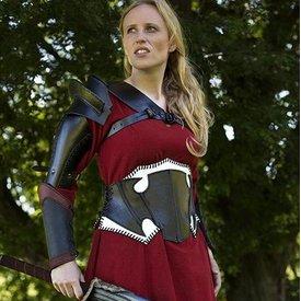 Epic Armoury Dark Elf svart / vitt läder korsett