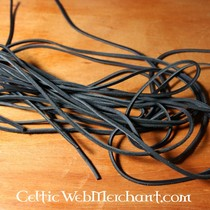 100 metre leather lace 1 mm, black