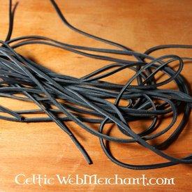 Lederband schwarz, 130 cm