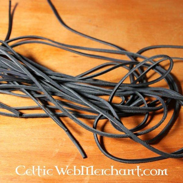 Læder lace sort, 130 cm