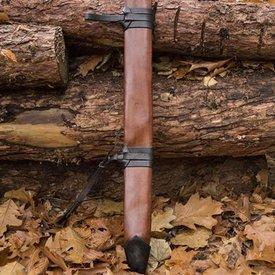 Epic Armoury LARP fourreau d'épée pour les gauchers, grand, cuir