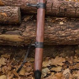 LARP Leather Scabbard, large, left-handed