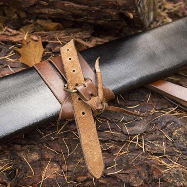 Epic Armoury LARP zwaardschede voor linkshandigen, large, leer
