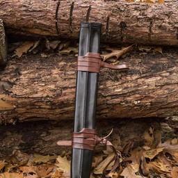LARP fourreau d'épée pour les gauchers, moyen, cuir
