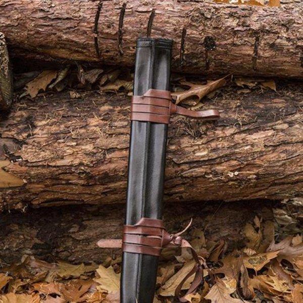 Epic Armoury LARP fourreau d'épée pour les gauchers, moyen, cuir