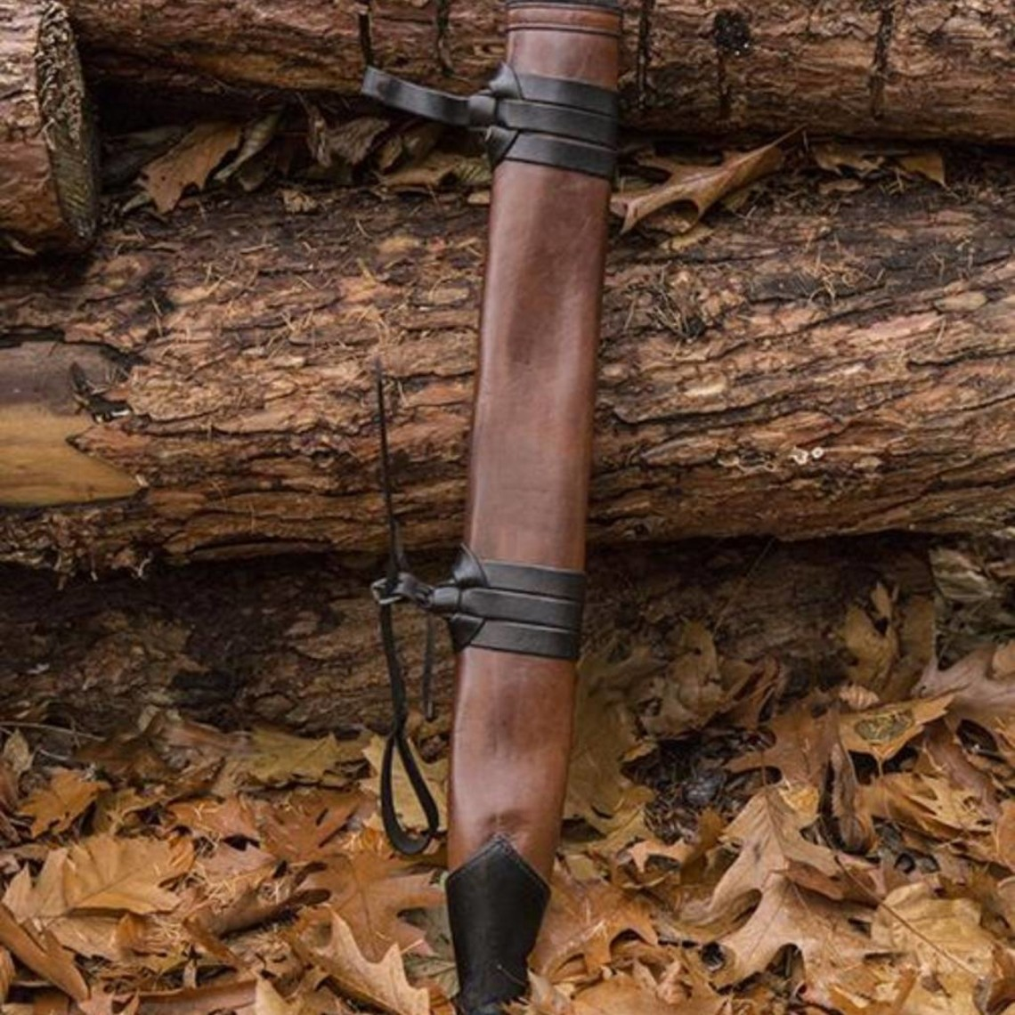 Epic Armoury LARP Vaina espada para zurdos, medio, cuero