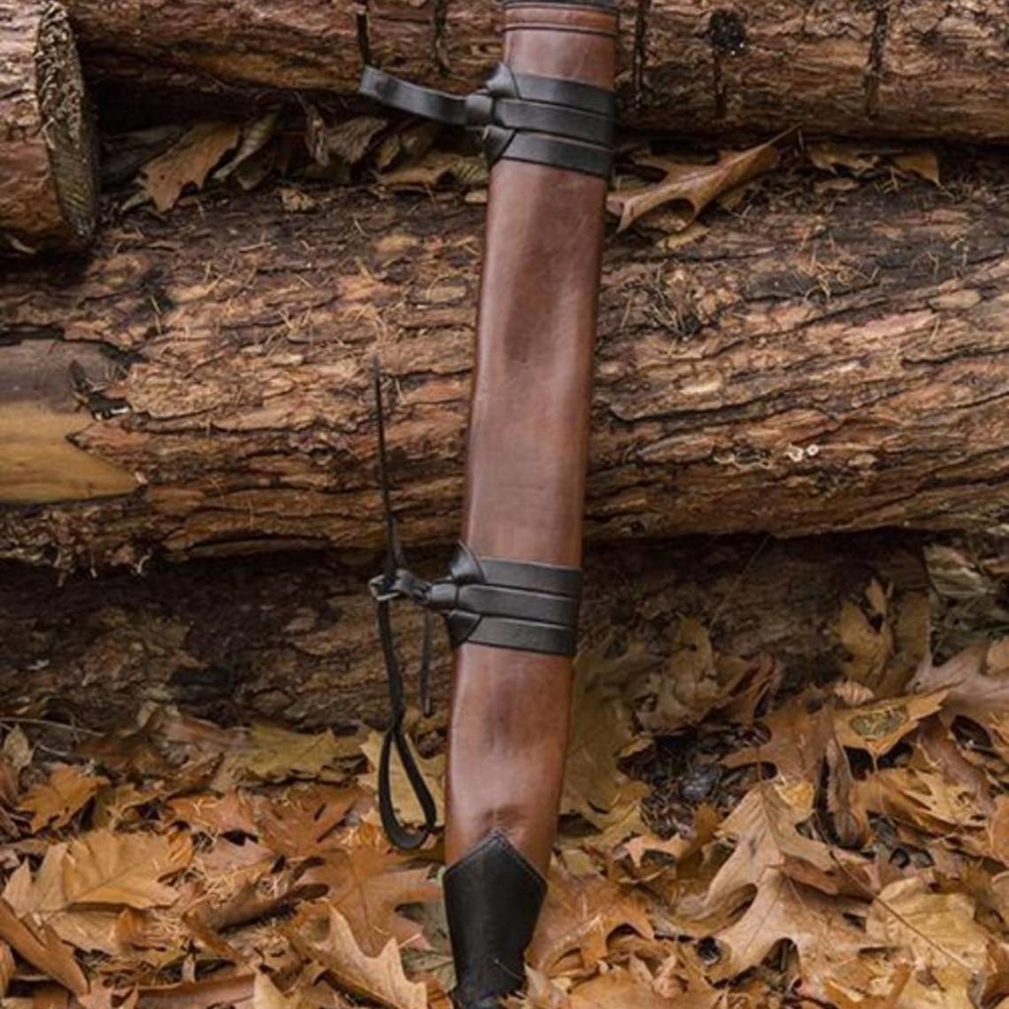 Epic Armoury LARP Zwaardschede voor linkshandigen, medium, leer