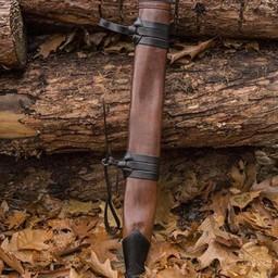 Miecz LARP pochwa, średnie, leworęczny, skóra