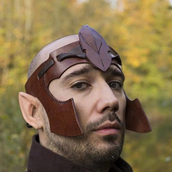 Epic Armoury Elven hoved Band, Læder, LARP