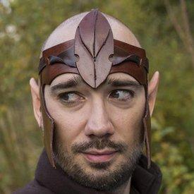 Epic Armoury Elven diadema LARP, de cuero marrón