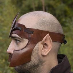 Elven hoofdband LARP, bruin leer