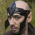 Epic Armoury Elven hoofdband LARP, bruin leer