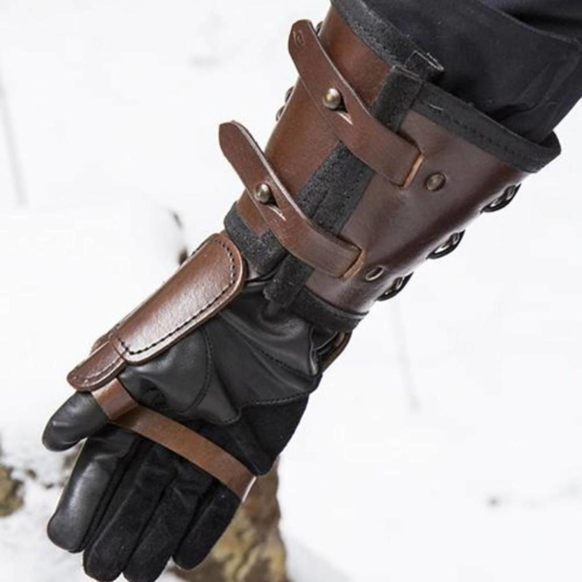 Epic Armoury Cuero guante de armadura para la mano derecha