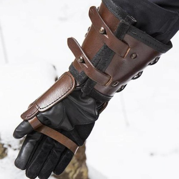 Epic Armoury Læder stridshandske, right hand