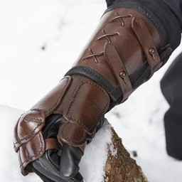 Leather gauntlet, Right hand
