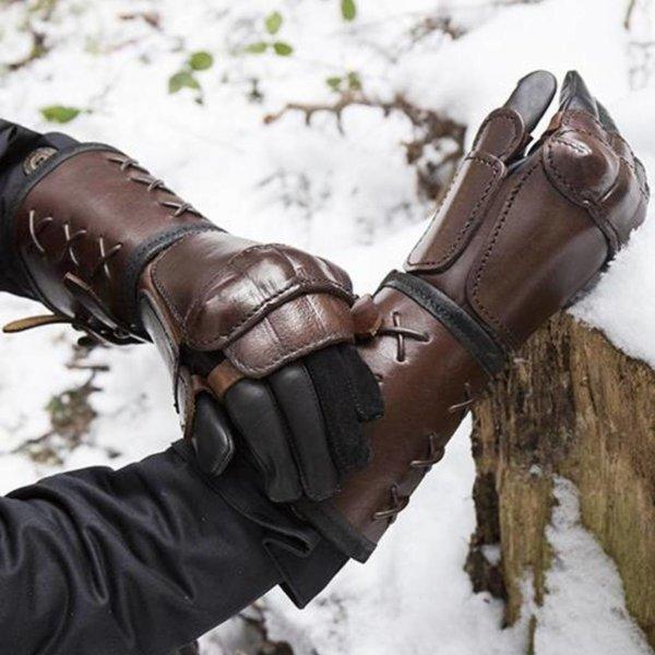 Epic Armoury Leren pantser handschoen voor de linkerhand