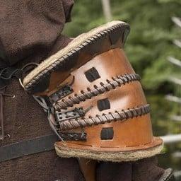 Orc Pauldron, LARP Leather Shoulder.