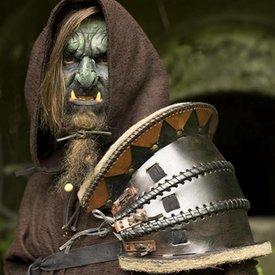 Epic Armoury Orc pauldron, LARP Læder Skulder.